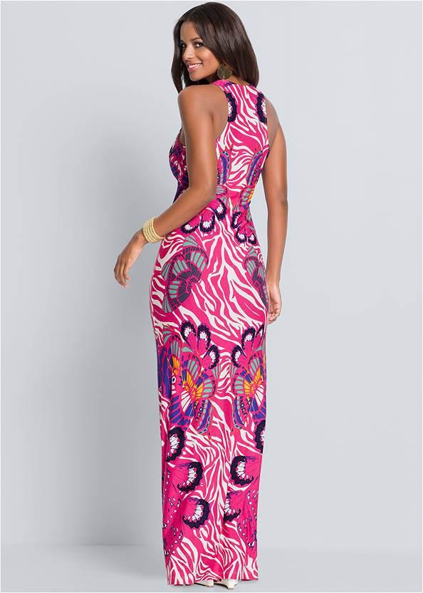 Back view Abstract Printed Maxi Dress