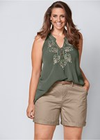 plus size embroidered halter