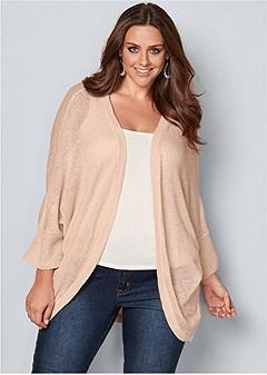 plus size oversized cardigan