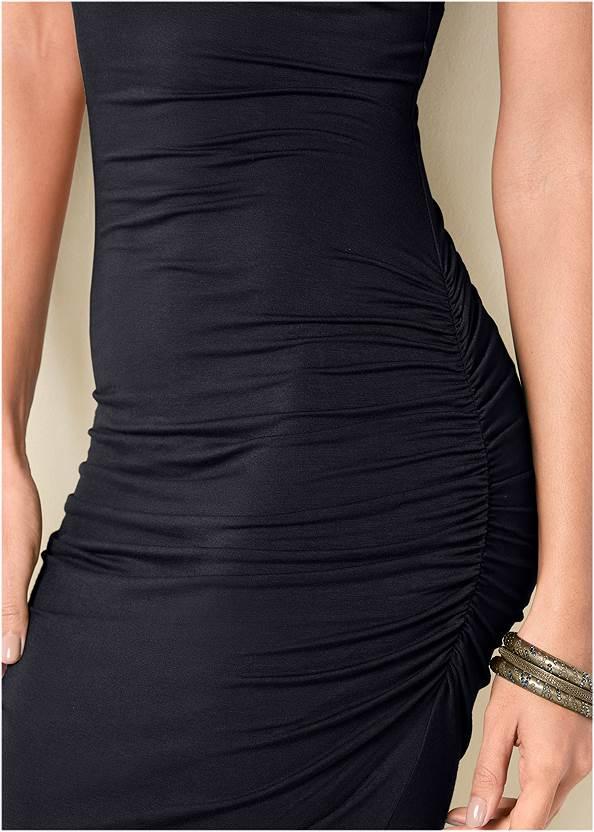 Alternate View Sleeveless Ruched Bodycon Midi Dress
