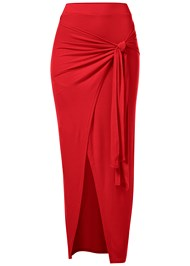 Alternate View Tie Front Long Skirt