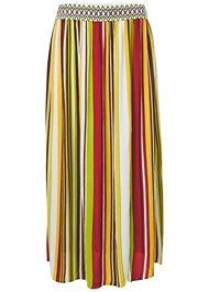 ALTERNATE VIEW Stripe Print Maxi Skirt