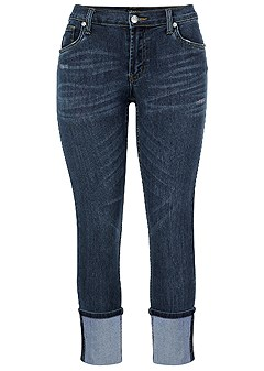 plus size deep cuff jeans