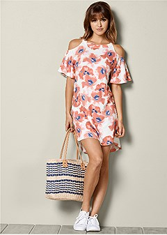 cold shoulder lounge dress