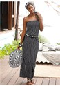 Front View Striped Maxi Dress