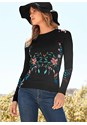 Front View Embroidered Sweater
