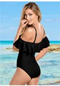 Back View Ruffle One-Piece
