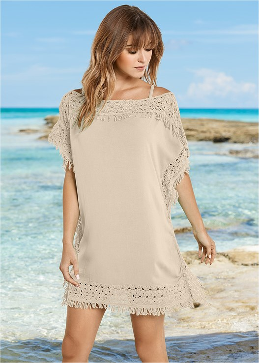 CROCHET TRIM COVER-UP