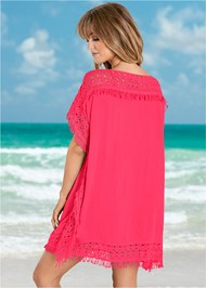 Back View Crochet Trim Cover-Up