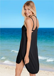Back View Lace Up High Low Cover-Up