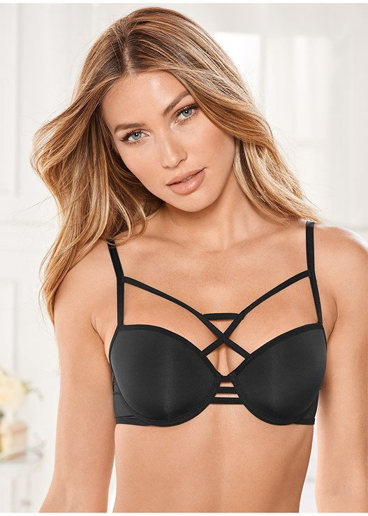 97260bee259c6 KISSABLE STRAPPY BRA in Black