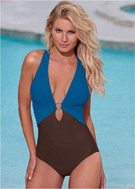 Back View Crisscross One-Piece