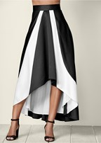 high low long skirt
