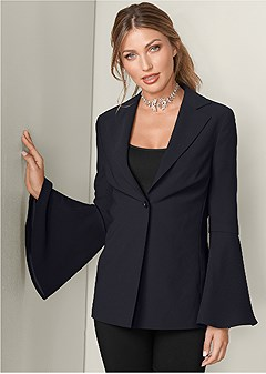sleeve detail blazer