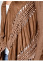 Alternate View Faux Suede Fringe Cardigan