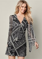 146919e01 Black BOHO SWEATER DRESS from VENUS