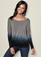 ombre boat neck top
