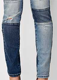Alternate View Distressed Patchwork Jeans