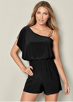 chain detail romper