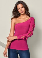 knot sleeve detail top