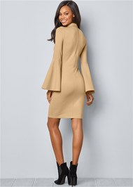Back View Bell Sleeve Dress