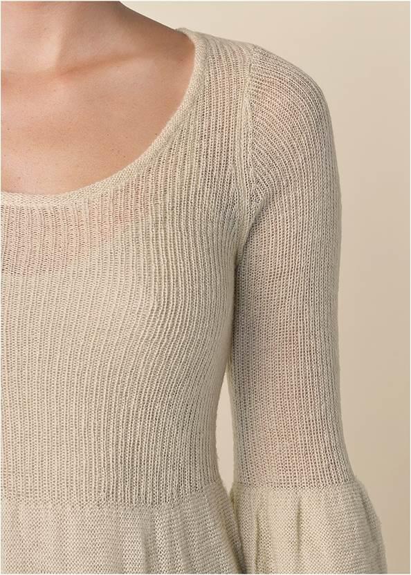 Front View Boho Sweater Dress
