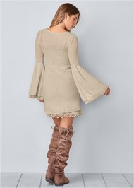 Back View Boho Sweater Dress