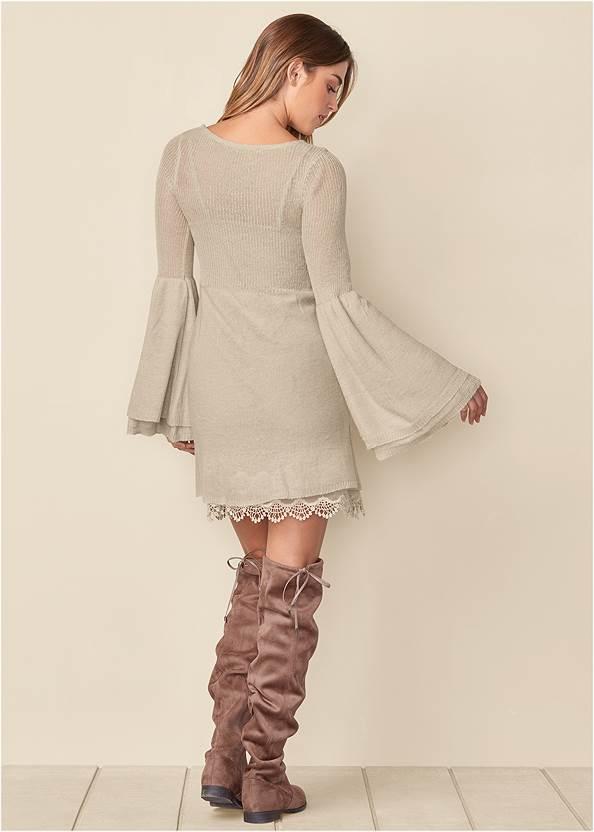 Back View Boho Sweater Dress