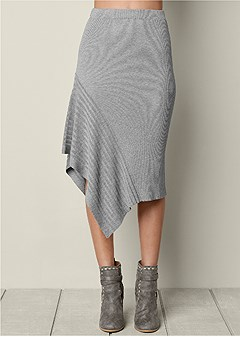 sweater asymmetrical skirt