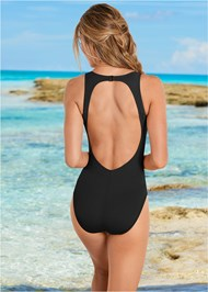 Back View Keyhole Back One-Piece