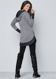 Alternate View Tunic Length Zip Up Hoodie Jacket