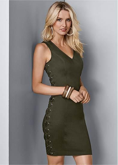 Lace Up Side Mini Dress