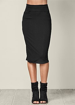 plus size easy midi skirt