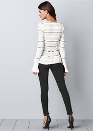 Back view Bell Sleeve Sweater