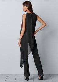 Back view Chiffon Overlay Jumpsuit