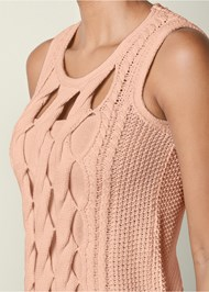 Alternate view Cut Out Detail Sleeveless Sweater