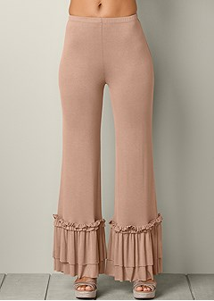 ruffle wide leg pants