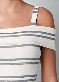 Alternate view Striped Ruffle Mini Dress