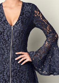 Alternate View Bell Sleeve Lace Dress