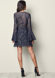 Back View Bell Sleeve Lace Dress