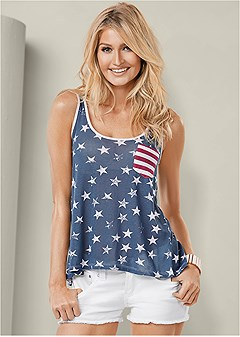 stars and stripes knit top