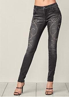 embellished skinny jeans