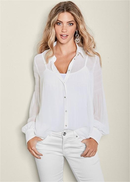 Seamless Cami In White Venus