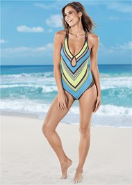 Back view Curvaceous One-Piece