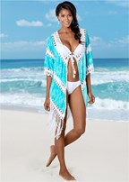 open front crochet cover up