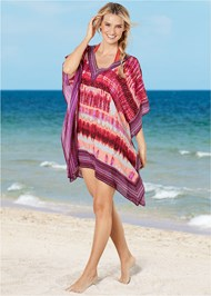 Front view Oversized V-Neck Poncho