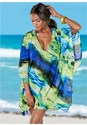 Front View Oversized V-Neck Cover-Up