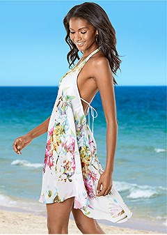 open back tassel cover-up