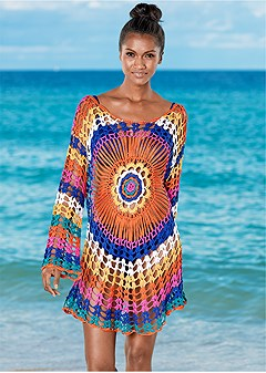 d4aeb36a279e CROCHET DETAIL COVER-UP in Kaleidoscope | VENUS