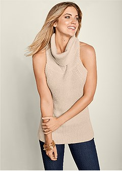 low back turtleneck sweater